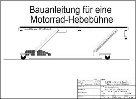 Bauanleitung Motorrad-Hebebühne